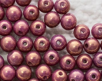4mm Czech Chalk White Vega Luster  Druk Beads, 3870, Chalk White Vega Luster Druk Round Beads, 100 Beads