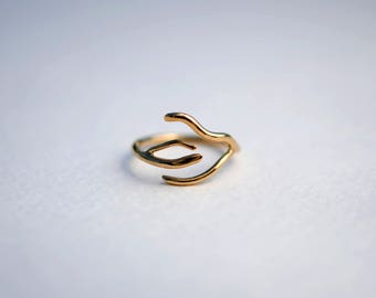 Branch Yellow Gold Roots Ring