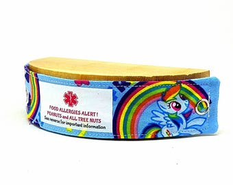 Medical Alert Band for Children Safety I.D. Bracelet - My Little Pony