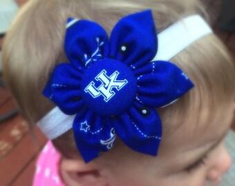 Free shipping! University of Kentucky fabric flower headband