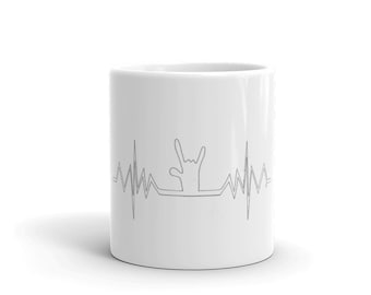 Heartbeat ILY ASL Mug