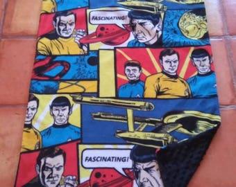 Star Trek baby blanket/ car seat / stroller blanket- ready to ship