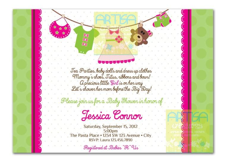 Girl baby shower invitation baby girl shower invitation zoom filmwisefo