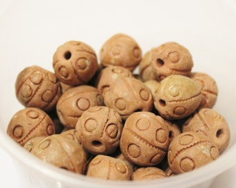 Rustic African Terra Cotta Beads (10), Tribal Beads, Mali Clay Beads (N39)