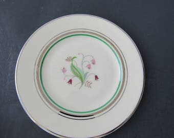 Vintage Set of 4 Syracuse China Old Ivory  Coralbel  Desert Plates   2154