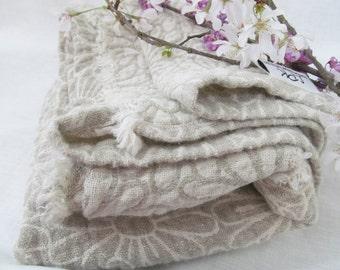 "3 Linen Bath Towels, Flax Towel, Bath Towels, Swimming, Beach, Pool, Natural Fiber, Exfoliating -@52 x 25"" -  hemmed"
