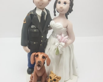 Military Wedding Cake topper,Custom wedding cake topper, personalized cake topper, Bride and groom cake topper, Mr and Mrs cake topper