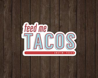 Austin Tacos   Vinyl Sticker Design Collection