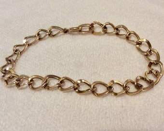 Vintage GOREL Gold Filled Charm Bracelet