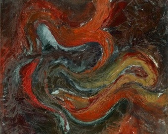 Enveloping Orange, fine art reproduction 16x20 matted print