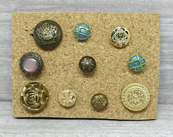 Button Thumbtacks, Button pushpins, Button Push Pins, Button office supplies, Fancy push pins, A23, Thumbtack set pushpin set