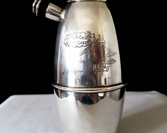 Rare Art Deco Silver Plate 'Cheerio' Cocktail Shaker
