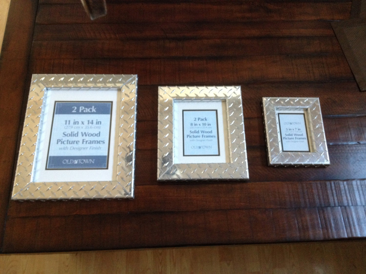 Aluminum Diamond Plate Picture Frame, Medium Size from ...