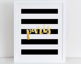 Paris Art Print, Instant Download, Printable Decor, Digital Art Print, French Quote Art Print, Fashion Illustration, Paris Wall Decor