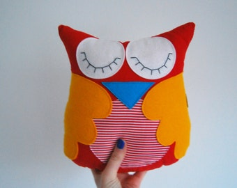 soft toy, Owl pillow, toys and games, stuffed toys, plushies, gift, baby shower, christening gift, birthday, handmade