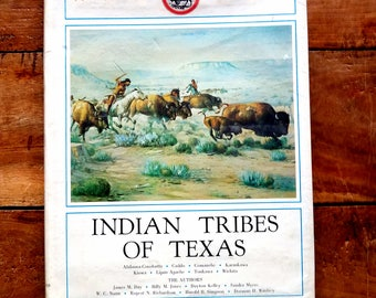 Indian Tribes of Texas by James Day, 1971, Vintage Books, Native American History, Texas History, Indian Tribes of Texas, American History