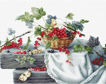 Red Currants SB2262 - Cross Stitch Kit by Luca-s