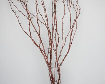 BROWN GLITTER/Curly Twigs/Branches/Centerpiece decor/ Winter wonderland/Decoration Branches/Gold Branches/Glitter Branches/Silver Branches