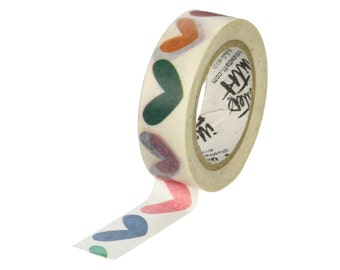 """Washi Tape """"Hearts & Joy"""", 5/8"""" (15mm) x 30 Feet (9 Meters), Home Decor, Gift Wrapping, Scrapbooking, Card-Making, Decorations, Baby Shower"""
