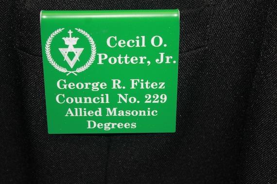 Allied Masonic Degrees  Members over the pocket Badge