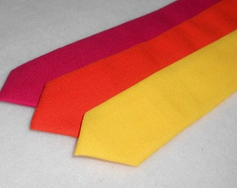 Pink, Orange, or Yellow Skinny Tie - Men's, Teen, Tween, Youth          2 weeks before shipping