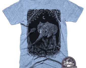 Elephant Shirt   Soft Tri Blend Shirt   Nature Shirts   Camping Shirt   Womens Graphic Tees   Elephant Decor   Elephant Tshirt   Mens Shirt