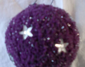 dark purple glitter Christmas ball