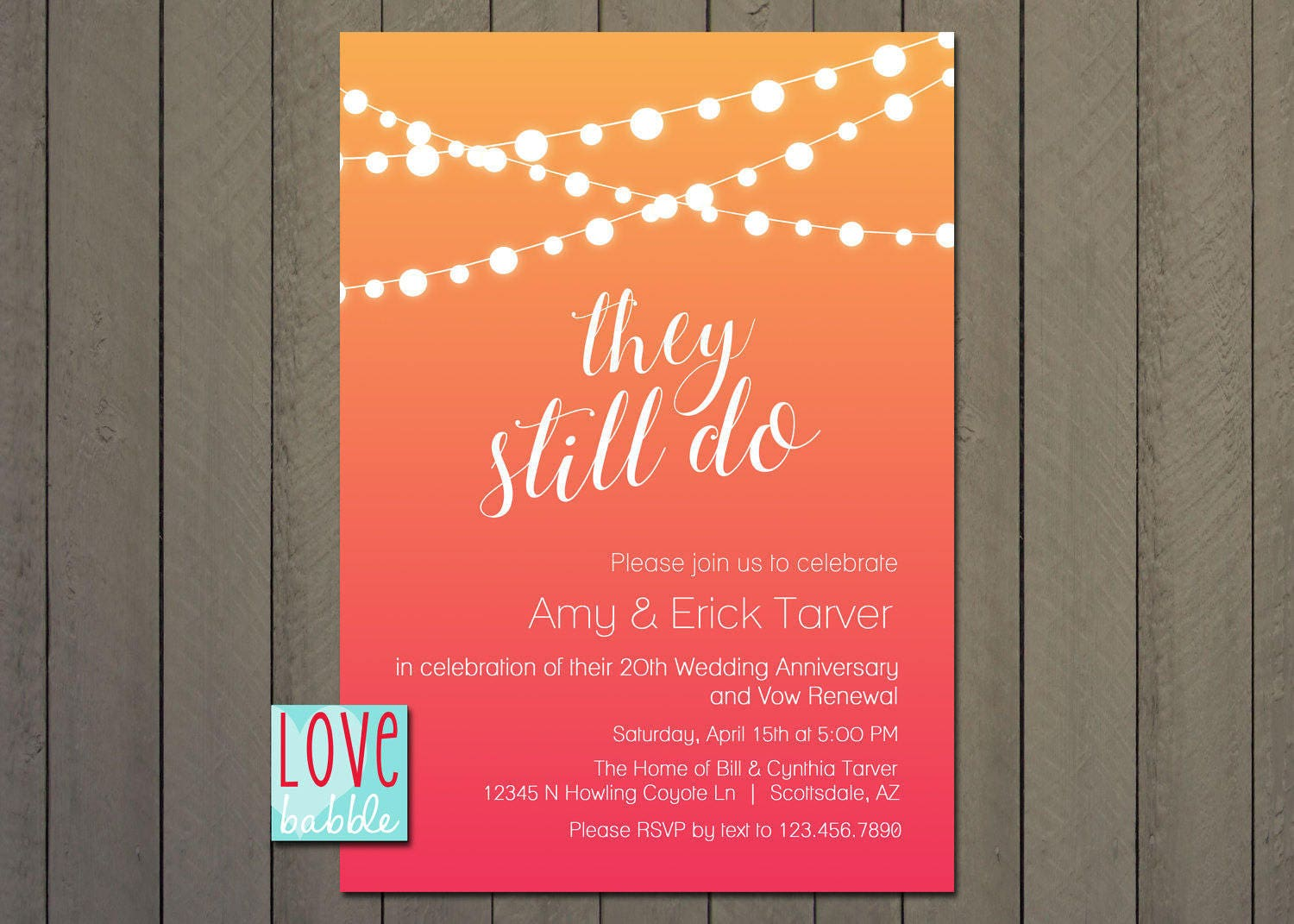 No Regrets Vow Renewal Invitation 60th birthday ideas t
