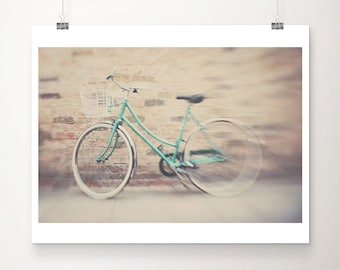 mint bicycle photograph green bicycle print mint bike photograph green bike print cambridge photograph travel photography