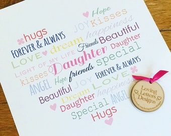 Daughter Typography Print