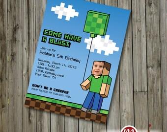 INVITATION: Video Game, Gamer, Pixel Guy