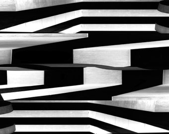 """Black and White Photograph Abstract Wall Art fine art photograph - """"O'hare 1"""""""