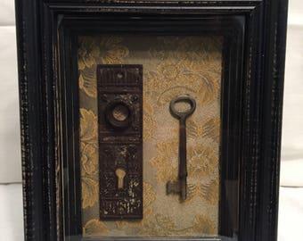 Vintage key & lock