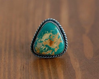 Royston Turquoise Ring. Sterling Silver Ring. Statement Ring.
