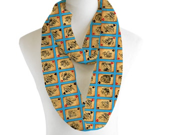 Alice In Wonderland Infinity Scarf