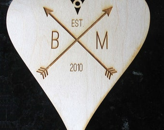 Custom Monogram Sign, Couple Wood Sign, Couples Name Sign, Wedding Date, Wooden Monogram, couple Door Hanger, Hanging Monogram, wedding gift