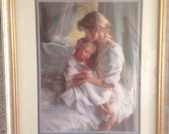 Beautiful framed mother daughter picture