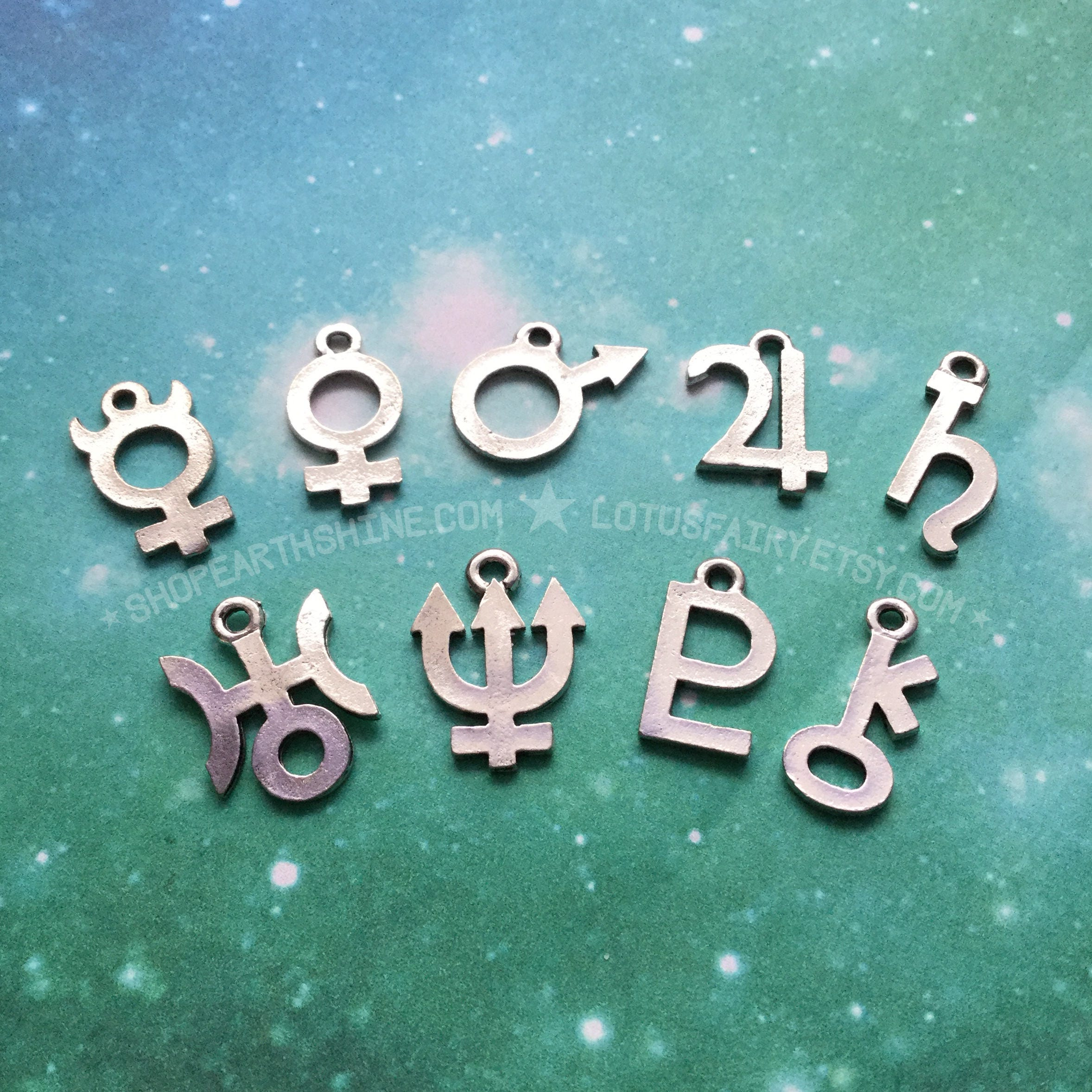 Planetary symbol glyph necklace 18mm jupiter saturn neptune planetary symbol glyph necklace 18mm jupiter saturn neptune symbols 18mm pendant charms buycottarizona Image collections