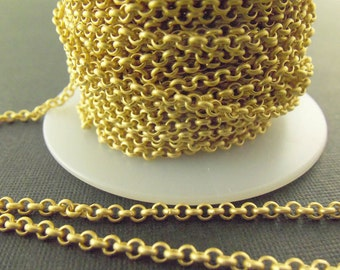Matte Gold Plated 4.8mm Rolo Chain Ch30