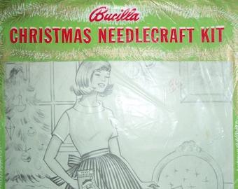 Vintage Christmas Needlecraft Kit Bucilla Kit 3084
