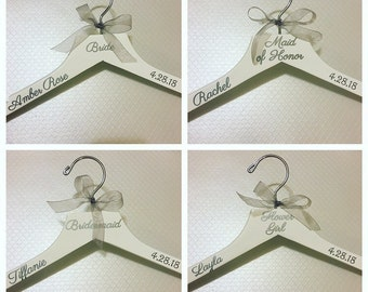 Personalized Wedding Dress Hangers - Personalized Bridal Party Hangers