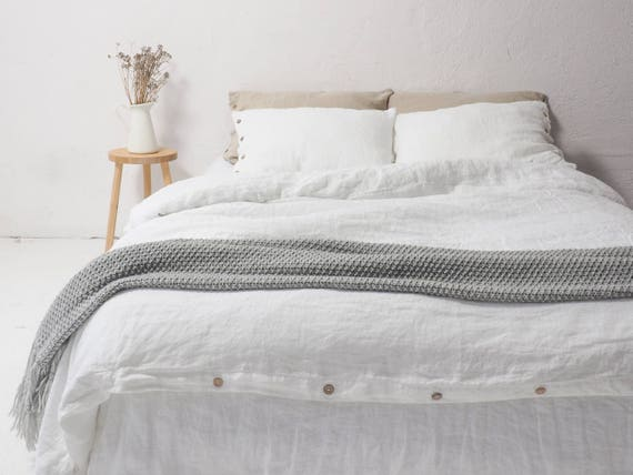 flax french covers item natural white duvet washed pure cover linen bedding bed