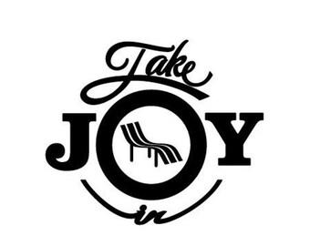 WEEKEND SALE Take Joy In Beach Chair Decal