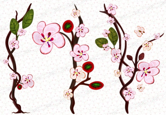instant download 300dpi png sakura borders frames drawing rh etsy com