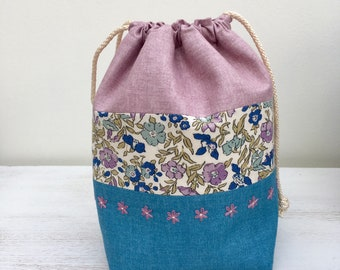 Liberty Drawstring Bag / Project Bag (small)