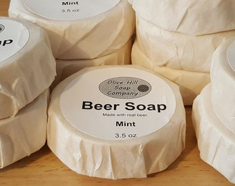 Mint scented Beer Soap