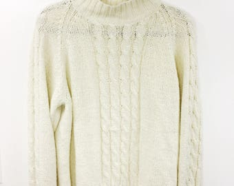 Vintage Handmade Cableknit Sweater