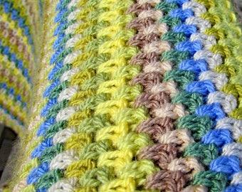 Crochet blanket pattern - lap blanket - easy crochet pattern - easy crochet afghan - beginner crochet pattern - easy crochet throw -