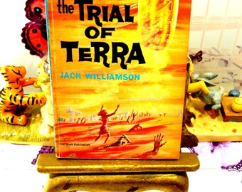 The Trial of Terra Jack Williamson Sci Fi Paperback Book 1st Ed 1962 Birth of Space Travel Future Fantasy Novel SF Pulp Fiction