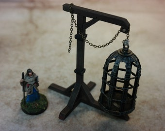 28mm Hanging Cage/Gibbet (Single) and Frame